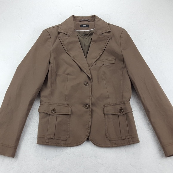 casual shoes classic fit authentic quality S.Oliver Two Button Casual Blazer Jacket Brown
